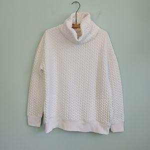 Gap   quilted sweatshirt